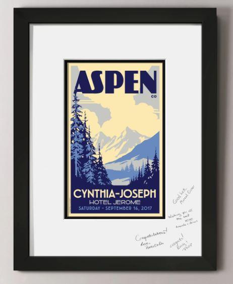 Alpine Valley Guest Signature Frame