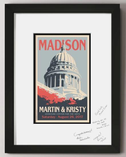 Capitol Building Guest Signature Frame