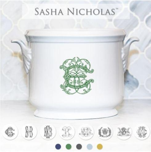 Sasha Nicholas   Champagne Bucket with Choice of Monogram Style and Personal Message $195.00