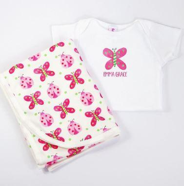 Butterfly Onesie and Blanket Set