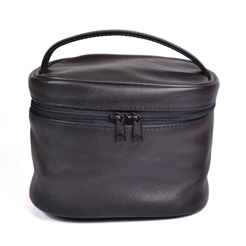 $110.00 Leather Adeline Travel Cosmetic Bag