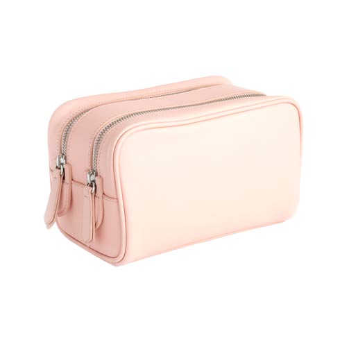 $250.00 Leather Double Zip Toiletry Bag