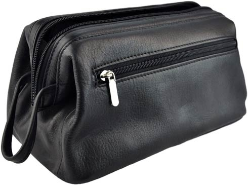 $110.00 Leather Colombian Leather Toiletry Bag