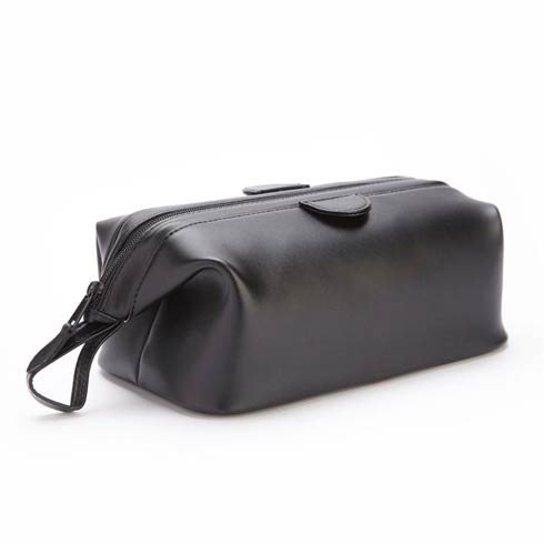 $215.00 Leather Deluxe Toiletry Bag
