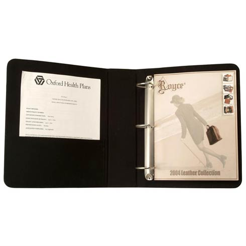 "$155.00 Leather 2"" "" D"" Ring Binder"