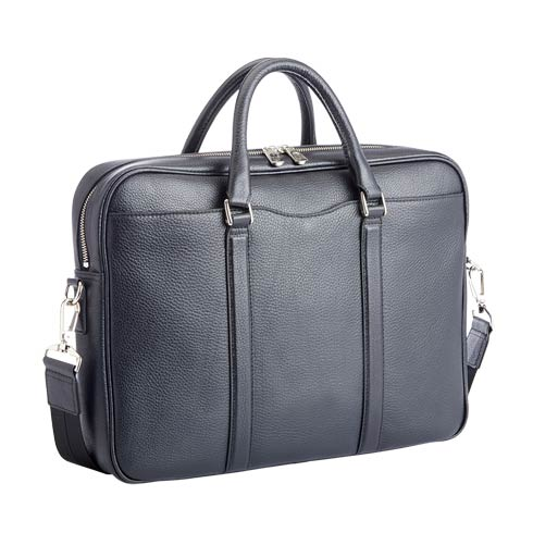 "$695.00 Leather Executive 13"" Laptop Messenger Bag"