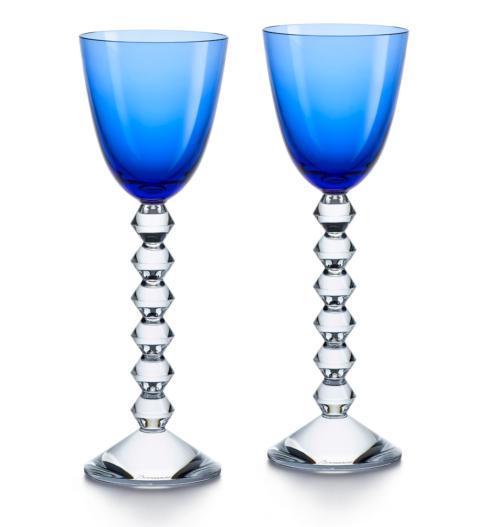 $290.00 Baccarat Vega Rhine Wine Sapphire SINGLE GLASS