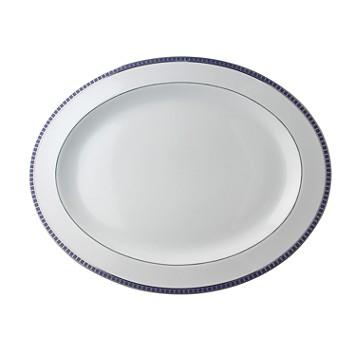 """$410.00 Athena Navy Oval Platter 15"""""""