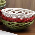 $52.00 Casafina Bread Basket - AQUA ROUND