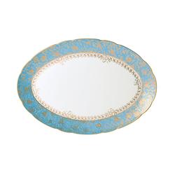 """$870.00 Eden Turquoise Platter 13"""""""