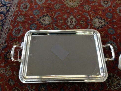 Fantin Silverplate Serving Tray with Handles