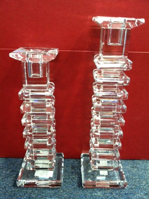 $100.00 Galway Step Candlesticks Pair Tall