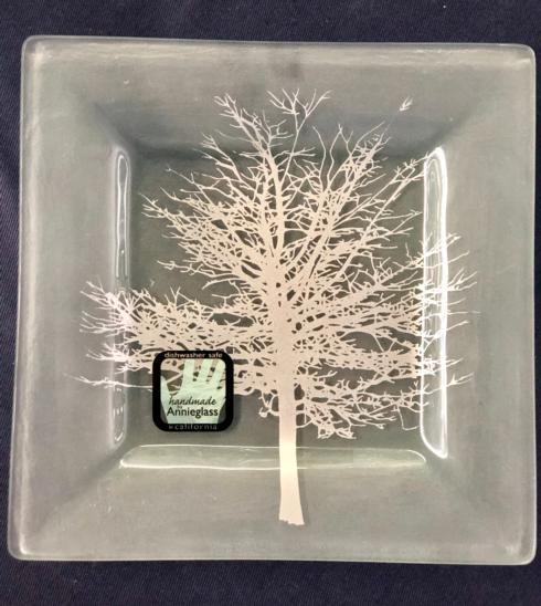 $50.00 Annieglass Square Tree Plate