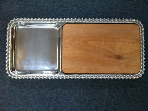 $154.00 Pearled Cheese & Cracker Server