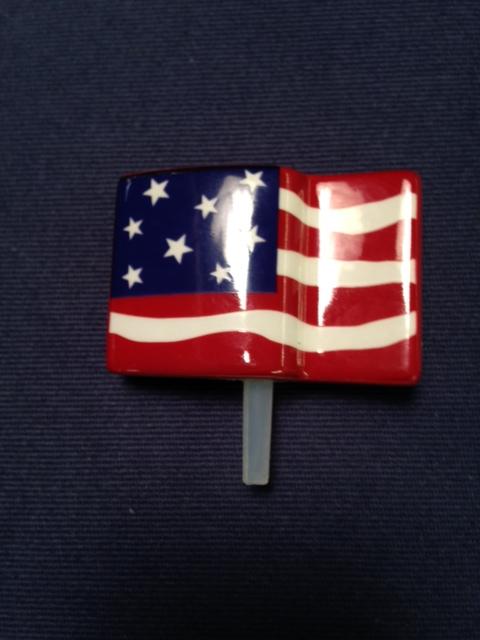 $12.50 Nora Fleming American Flag Finial