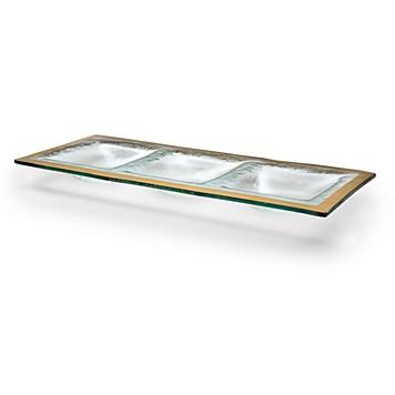 $88.00 Annie Glass 3 Part Tray