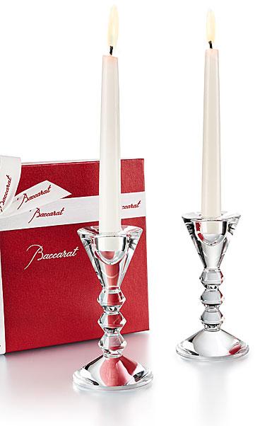 Alioto\'s Exclusives   Baccarat Vega Candlesticks PAIR $410.00