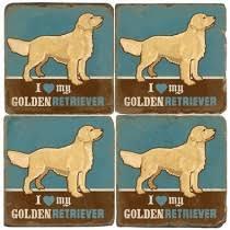 Alioto\'s Exclusives   Studio Verta Golden Retriever Coaster $12.00