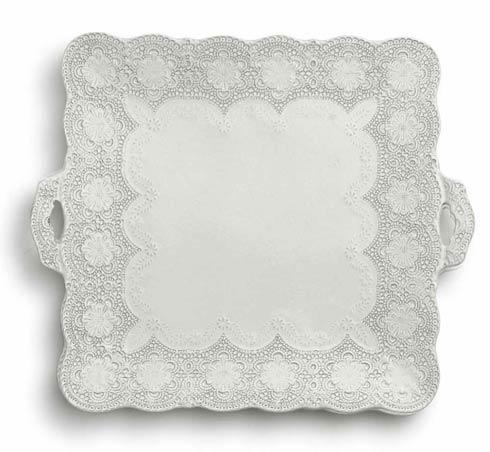 Arte Italica Merletto Antique Square Platter with Handles $109.00