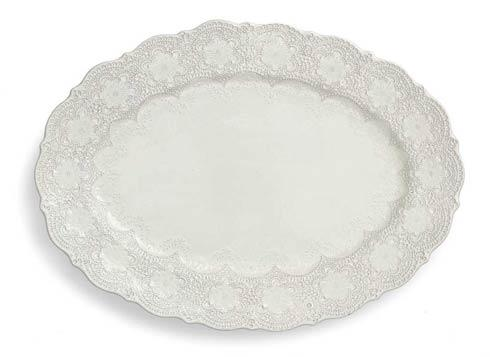 Arte Italica Merletto Antique Oval Platter $106.00