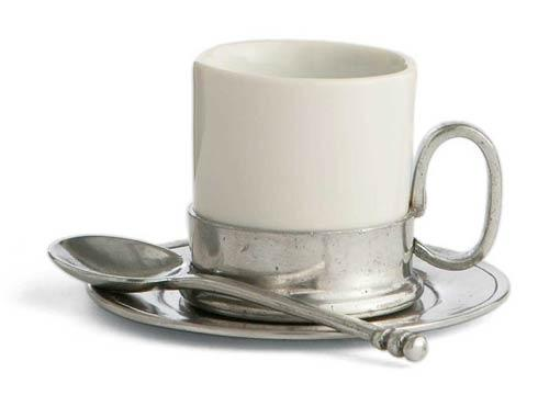 Espresso Cup & Saucer with Spoon
