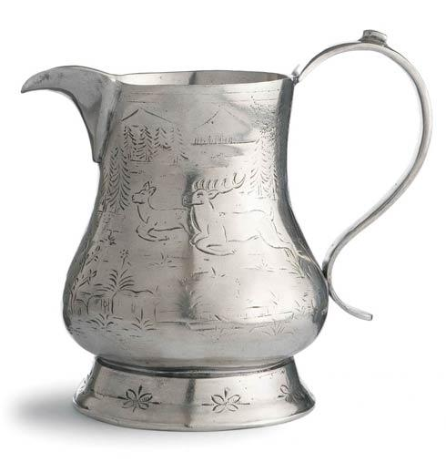 Arte Italica  Vintage Pewter Pitcher with Deer $273.00