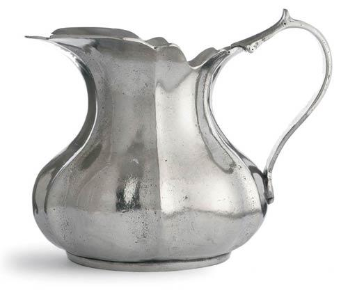 Arte Italica  Vintage Pewter Small Scalloped Pitcher $230.00