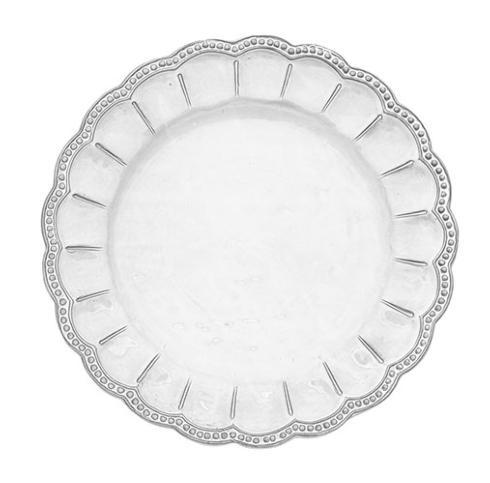 Arte Italica  Bella Bianca Stoneware Beaded Charger $80.00