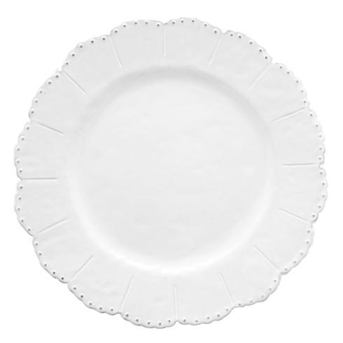 Arte Italica  Bella Bianca Stoneware Beaded Dinner Plate $50.00