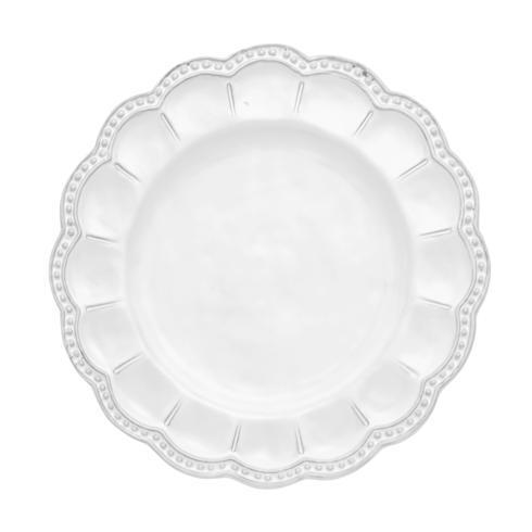 Arte Italica  Bella Bianca Stoneware Beaded Salad Plate $36.00