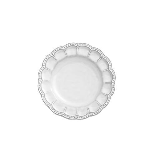 Arte Italica  Bella Bianca Stoneware Beaded Bread Plate $36.00