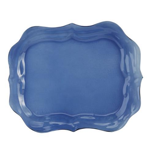 Glass Large Blue Tray