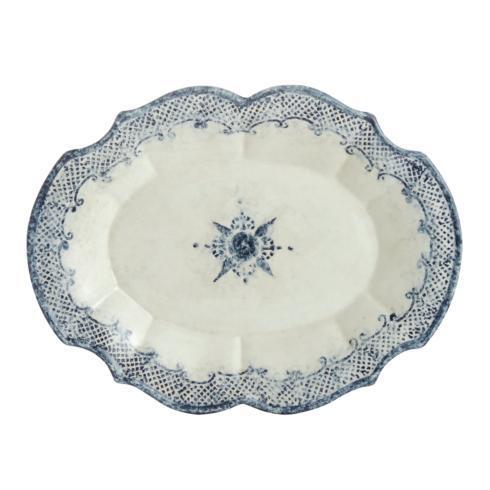 Arte Italica  Burano Oval Scalloped Platter $236.00
