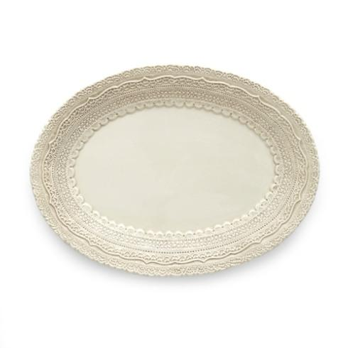 Arte Italica  Finezza Cream Small Oval Platter $83.00