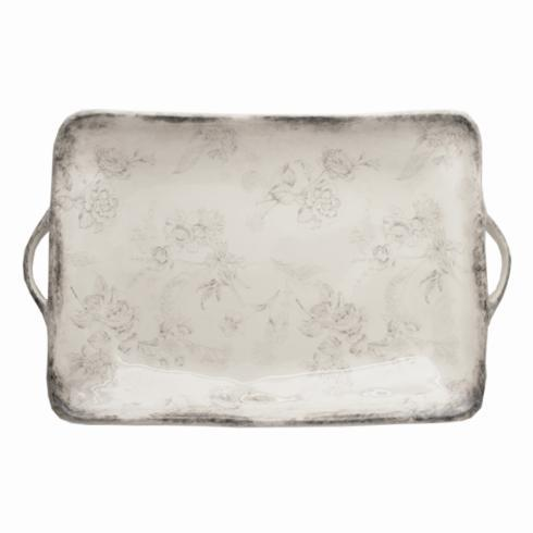 $231.00 Rectangular Tray with Handles