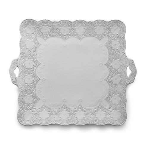 Arte Italica Merletto White Square Platter $117.00