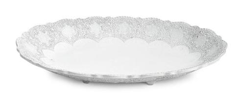 Arte Italica Merletto White Large Oval Footed Bowl $160.00