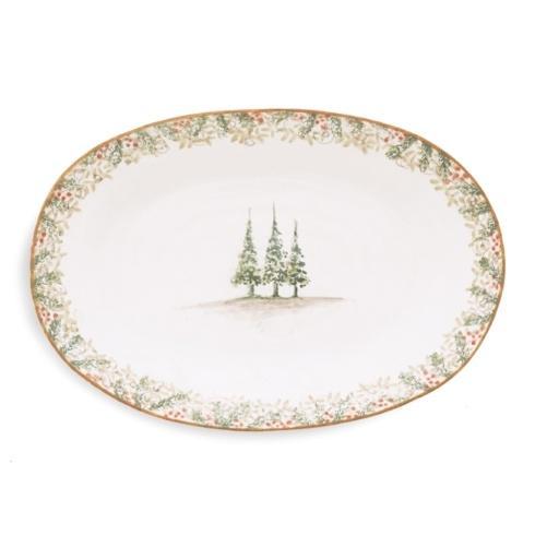 Arte Italica  Natale Natale Oval Platter $214.00