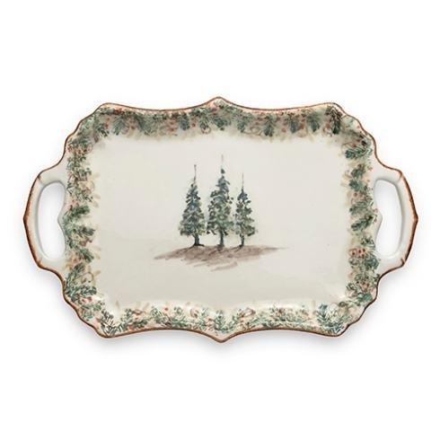 Arte Italica  Natale Rectangular Tray with Handles $164.00