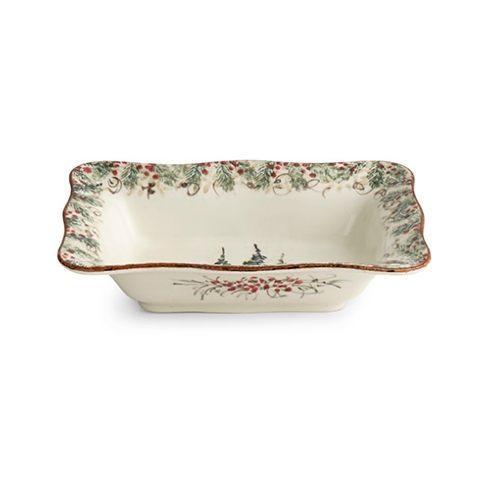 Arte Italica  Natale Rectangular Bowl $115.00