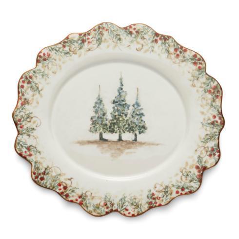 Arte Italica  Natale Scalloped Oval Plate $67.50