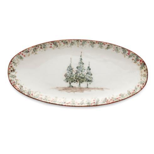 Arte Italica  Natale Long Oval Platter $92.00