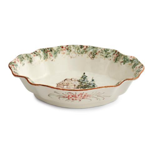 Arte Italica  Natale Casa Scalloped Oval Bowl $146.00