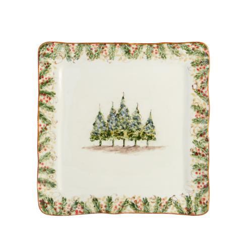 Arte Italica  Natale Square Platter Signed $79.00