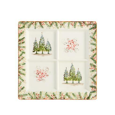 Arte Italica  Natale Square Divided Platter $199.00