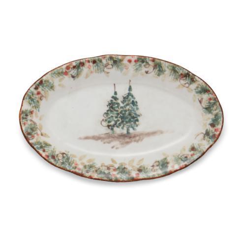 Arte Italica  Natale Small Oval Tray $49.50