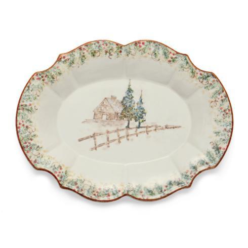 Arte Italica  Natale Casa Scalloped Oval Tray $236.00