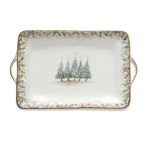 Arte Italica  Natale Large Rectangular Tray $220.00