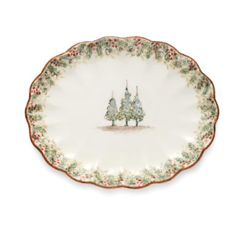 $178.00 Scalloped Oval Platter