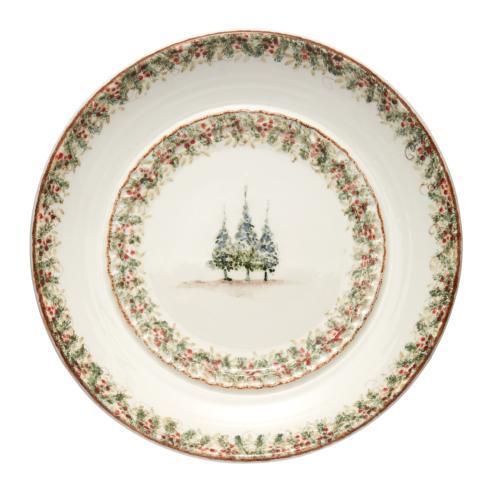 Arte Italica  Natale Large Round Platter Signed $315.00